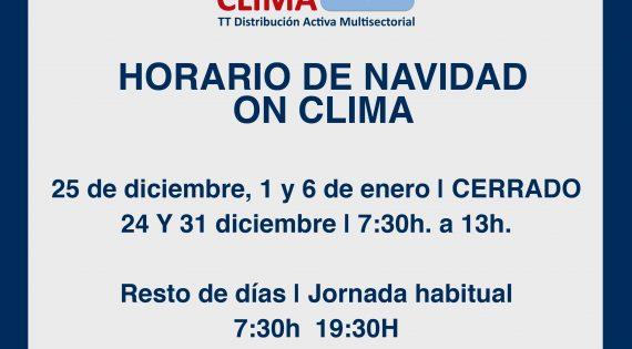 HORARIOS NAVIDAD ON CLIMA