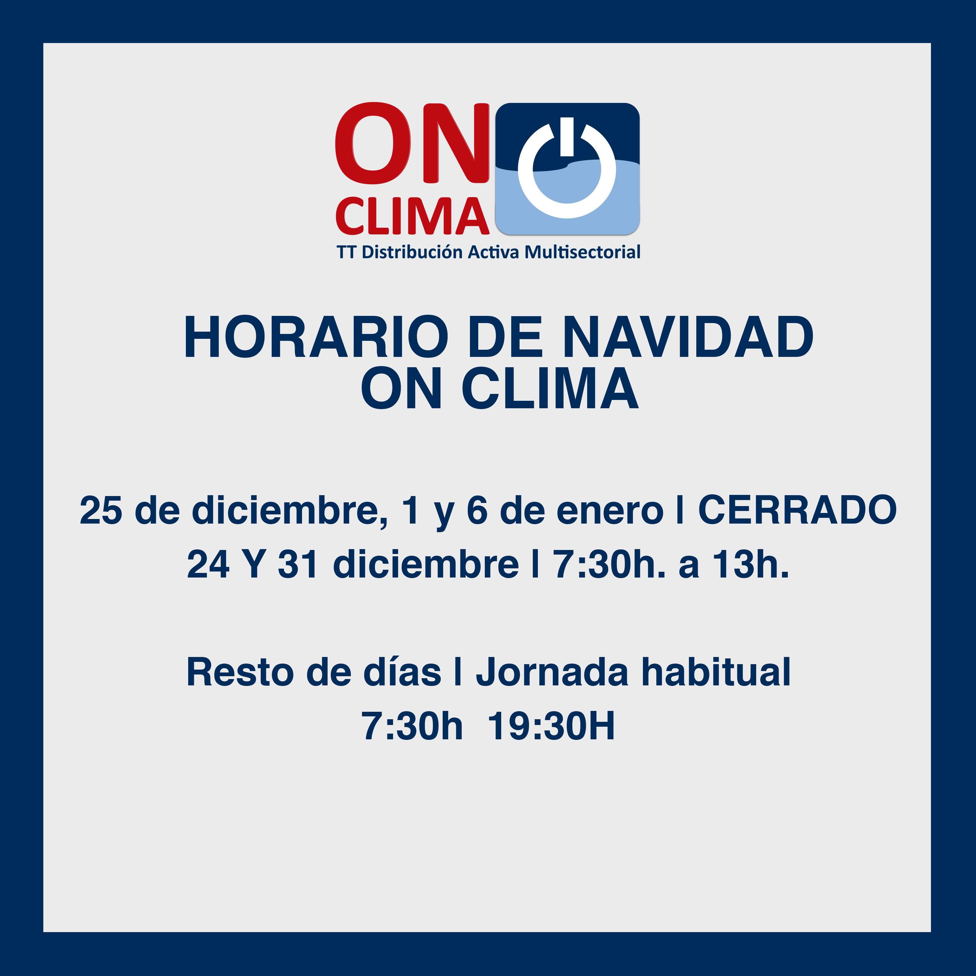 Horarios Navidad On Clima Onclima